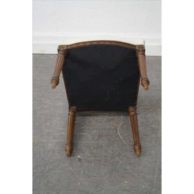 Antique Louis XVI Walnut Side Chairs - A Pair - Image 8 of 10