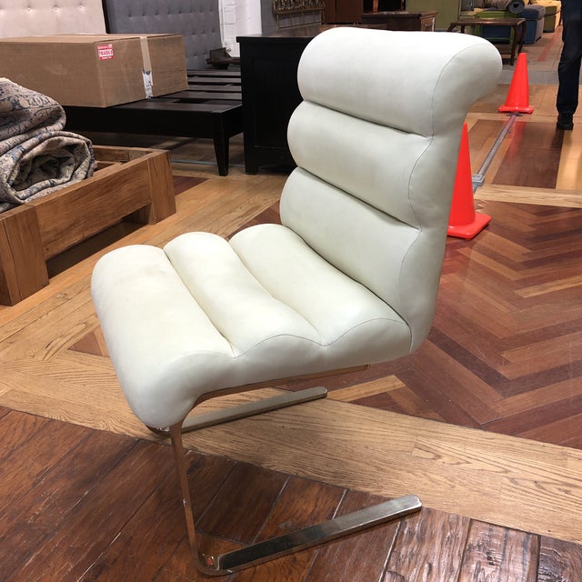 Metal Mid-20th Century Frank Mariani Pace Collection Laguna Cantilever Chair For Sale - Image 7 of 11