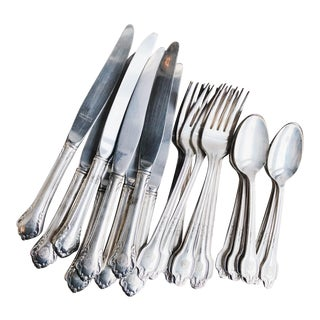Service for 8 - Silver Plated Flatware From the Plaza Hotel Nyc For Sale
