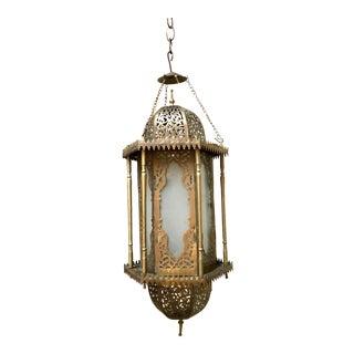 Moroccan Moorish Hanging Lantern For Sale