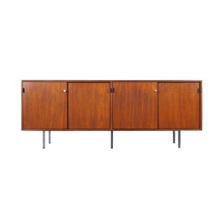 Vintage Walnut Credenza by Florence Knoll For Sale