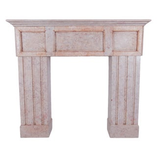 Pink Marble Fireplace Mantel For Sale
