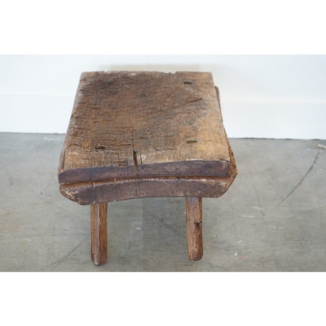 French Small Primitive Wooden Table For Sale - Image 3 of 10