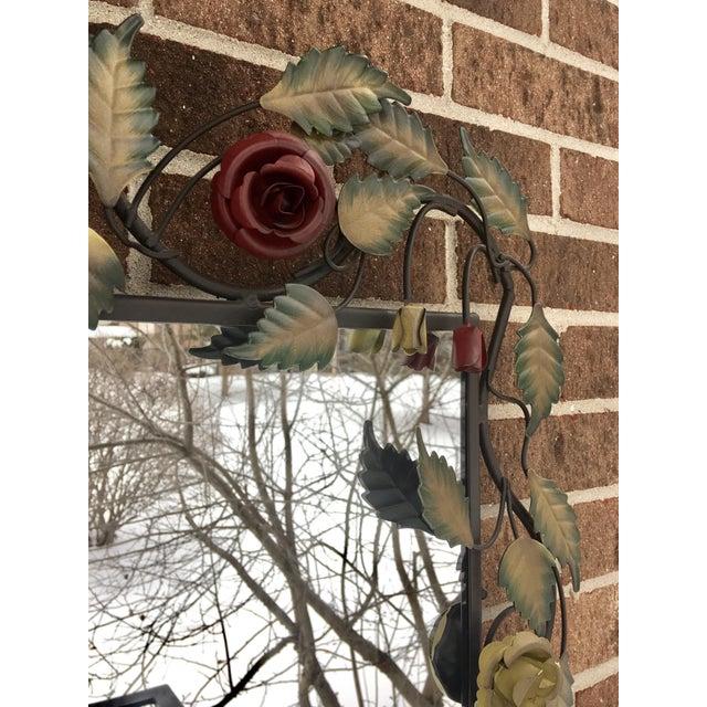 Bronze Framed Rose & Vine Mirror - Image 4 of 10