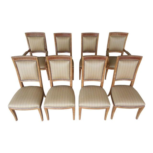 Ferguson Copeland Neoclassical Regency Style Chairs - Set of 8 - Image 1 of 11