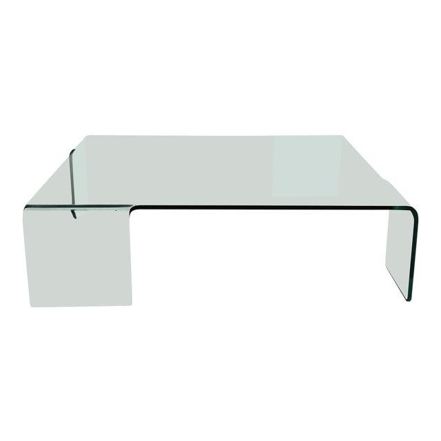 "Rodolfo Dordoni for Fiam ""Neutra"" Glass Coffee Table For Sale"