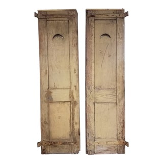 Early 18th Century Antique Shutters - A Pair For Sale