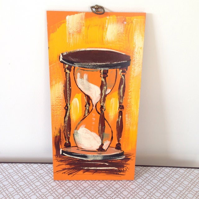 Mid-Century Hour Glass Painting - Image 2 of 4