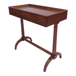 A French Empire Style Fruitwood Side Table Elegant Design Single Drawer C1950 For Sale