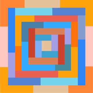 """""""Celebration of Spring No 1"""" Contemporary Geometric Print by Sassoon Kosian For Sale"""