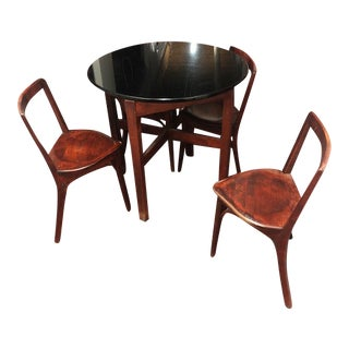 Snug Seat Soda Fountain Chairs & Table - 5 Pieces For Sale