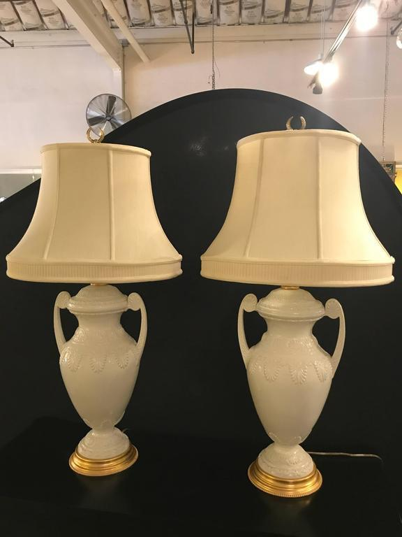 superb frederick cooper lenox neoclassical style table lamps - a