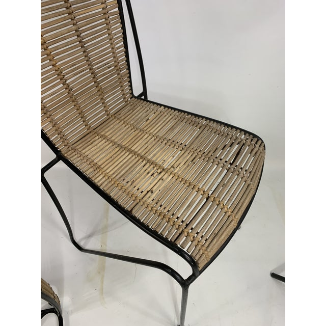 Ficks & Reed Mid-Century Modern Bamboo & Rod Iron Dining Chairs - Set of 2 For Sale - Image 9 of 11