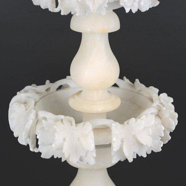 1960s Carved Alabaster Epergne For Sale In Denver - Image 6 of 9