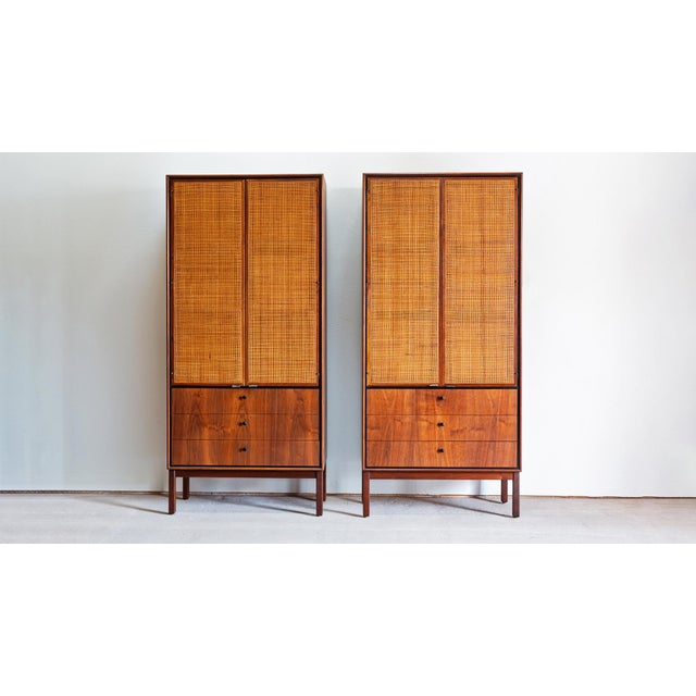 1960s Mid Century Modern Jack Cartwright for Founders Walnut Armoire Dressers - a Pair For Sale - Image 10 of 10