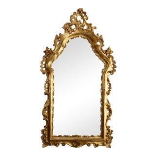 French Rococo Style Giltwood over Mantel Mirror, 20th Century For Sale