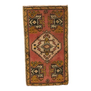 Anatolian Handwoven Vintage Turkish Rug - 1′9″ × 3′2″