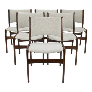 1960s VintageDanish Modern Dining Chairs by Erik Buch for Anderstrup Møbelfabrik- Set of 6 For Sale