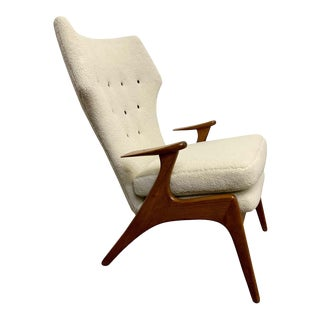 1960s Kurt Ostervig High Back Lounge Chair For Sale