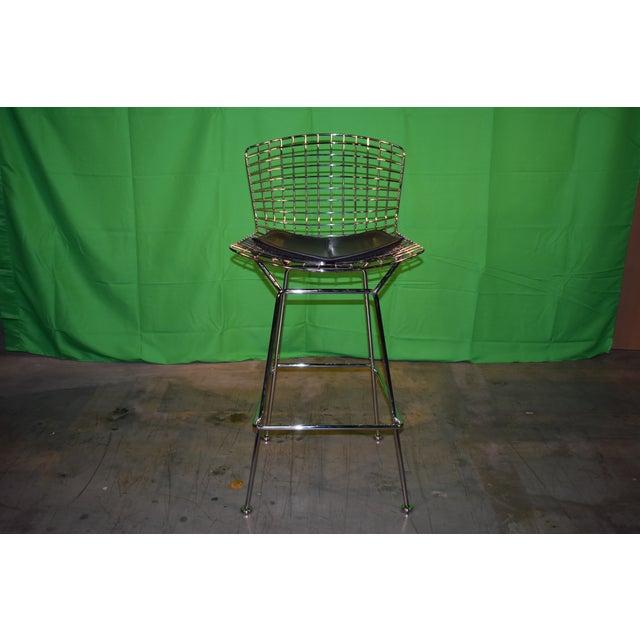 Chrome Knoll Bertoia Barstool For Sale - Image 8 of 8