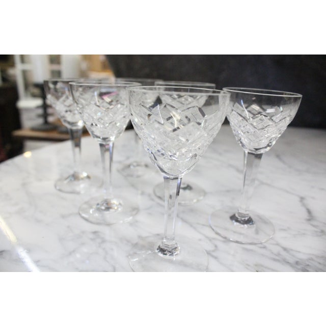 Set of 6 cut glass liquor cordials. Delicate for the refined drinker!