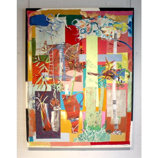 Abstract Jacques Lamy Multi-Media Abstract Painting For Sale - Image 3 of 7