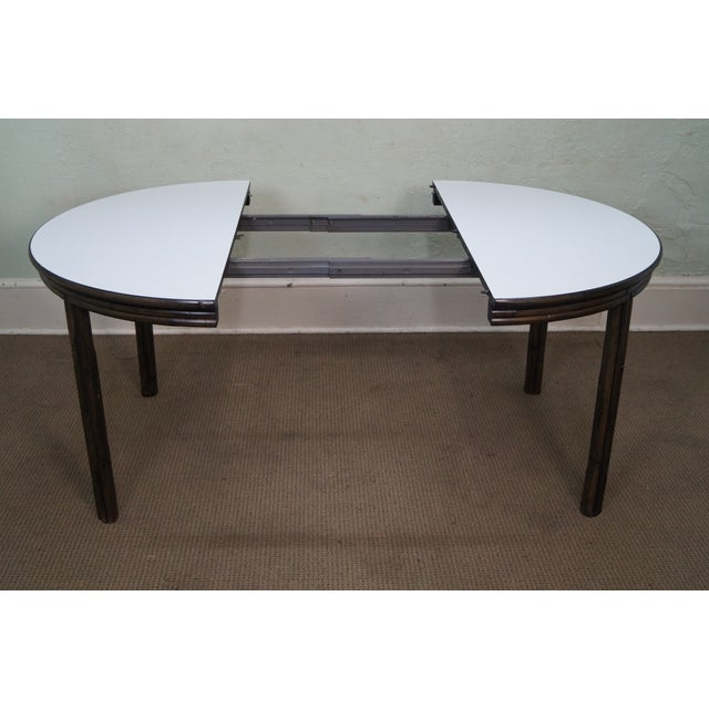 Brown McGuire Vintage Bamboo Rattan Dining Table For Sale - Image 8 of 10