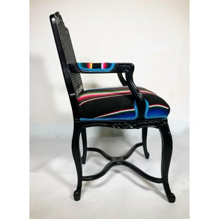 1960s Vintage French Black Enameled Arm Chair Preview