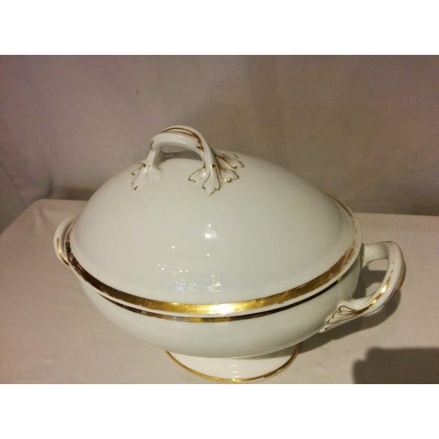 Limoges Porcelain White & Gold Tureen - Image 3 of 10
