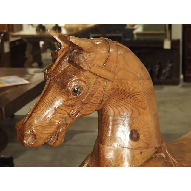 Early 20th Century Circa 1900 Wooden Jumping Horse on Stand From Barcelona Spain For Sale - Image 5 of 13