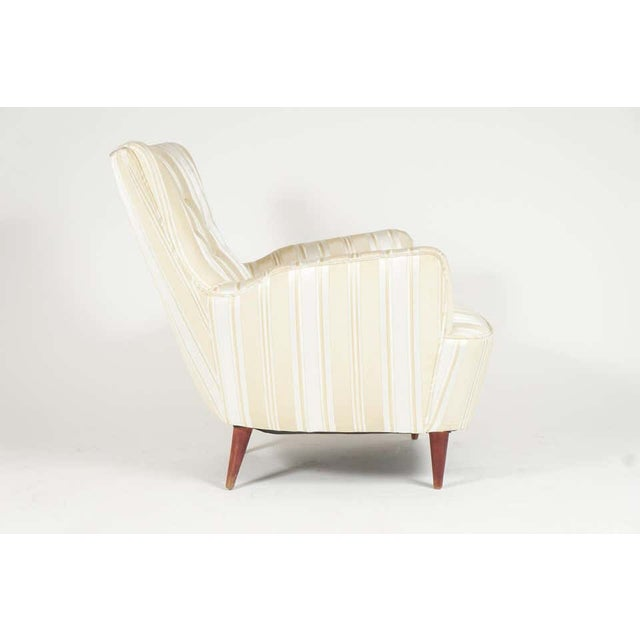 1950s Sculptural Pair of 1950s Midcentury Italian Paolo Buffa Attr. Arm Lounge Chairs For Sale - Image 5 of 11