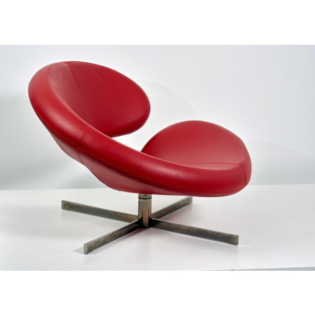 "1990s Swivel Chair ""Nuage"" by Robert Tapinassi With Maurizio Manzoni for Roche Bobois For Sale - Image 5 of 9"