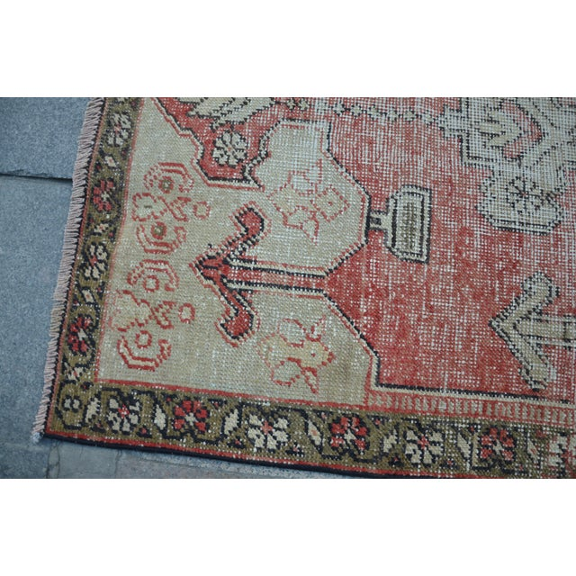 Bohemian Floor Wool Rug - 3′6″ × 7′4″ - Image 6 of 6