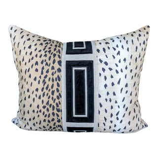 Boho Chic Black Antelope Print Pillow Cover For Sale
