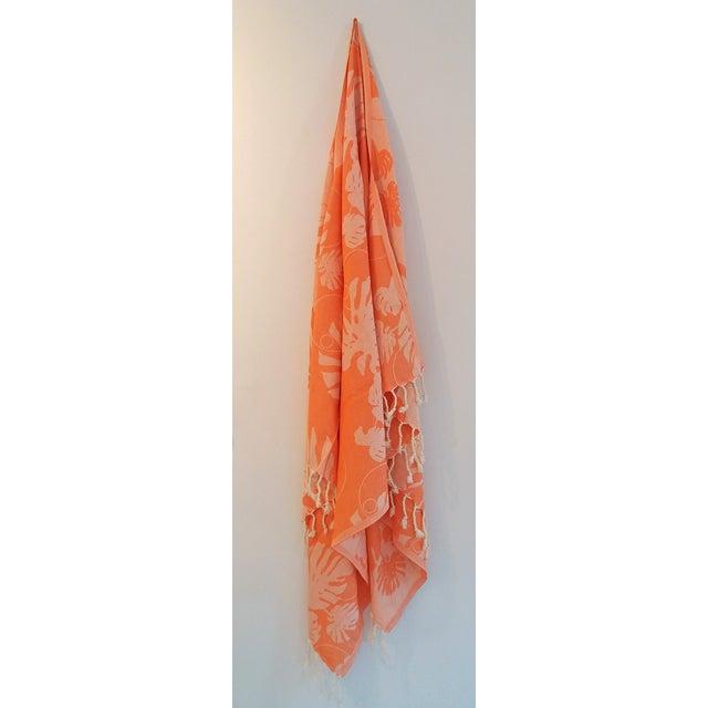 Coral & Orange Towalla Towel - Image 5 of 6