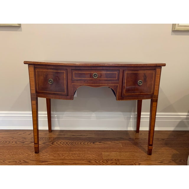 Antique English Vanity Small Desk Mahogany For Sale - Image 11 of 11