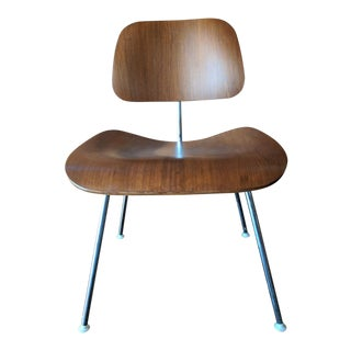 Authentic Eames Chair Refinished Walnut and Chrome, Tagged Herman Miller For Sale