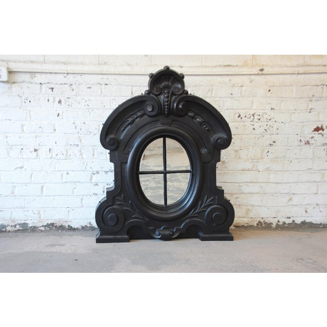 19th Century Antique French Cast Iron Dormer For Sale - Image 12 of 12