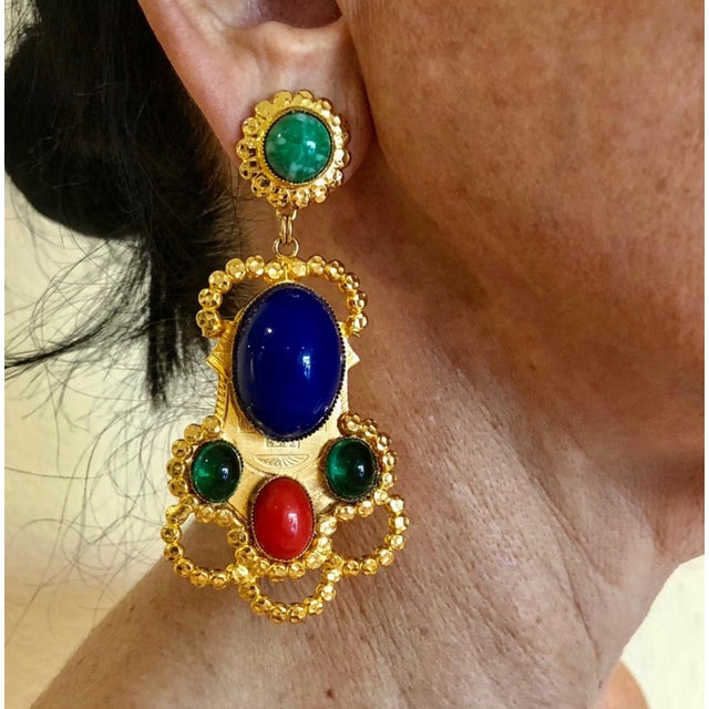 58100c210 Vintage oversized clip-on statement earrings by the House of de Lillo. The  clip
