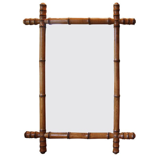 Faux Bamboo English Mirror - Image 1 of 4