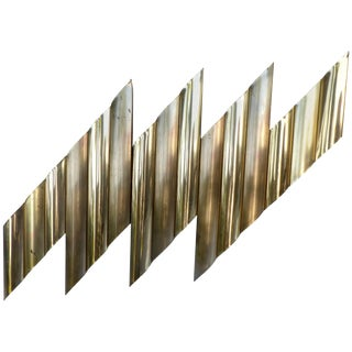 C. Jere Style Brass-Plated Wall Sculpture, Circa 1970s For Sale