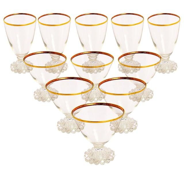 Gold Edge Vintage Glasses - Set of 11 - Image 1 of 4