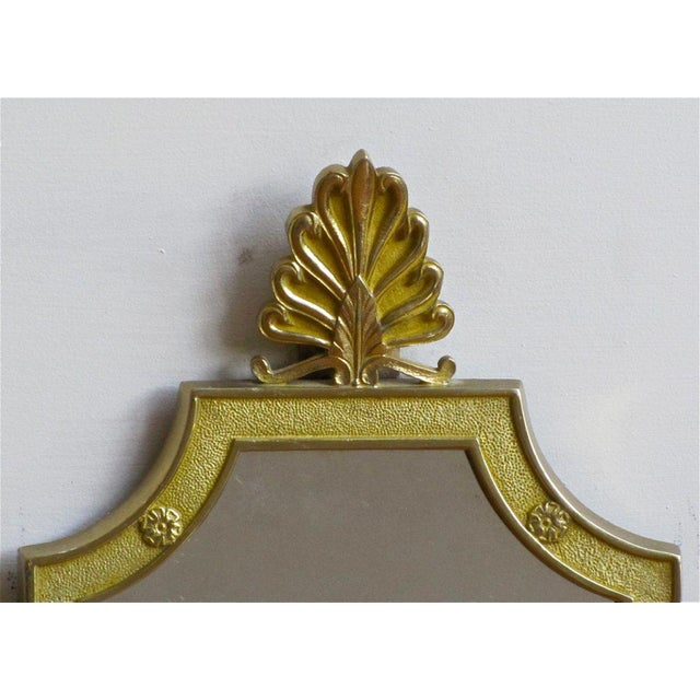 Metal 1940s French Brass Mirrored Lion Wall Sconces - a Pair For Sale - Image 7 of 11