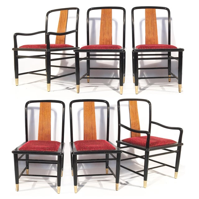 Henredon Elan Koa Wood Asian Chinoiserie Chairs - Set of 6 For Sale - Image 11 of 11