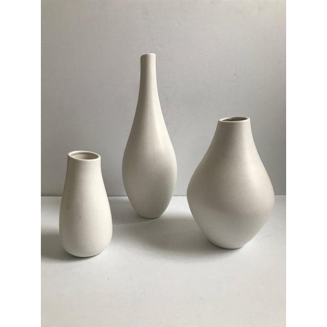 Organic Modern White Vases Set Of 3 Chairish