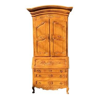 Antique French Provincial Secretary Slant Front Desk W Lion Pulls For Sale