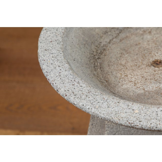 American Cast Concrete Garden Planter For Sale - Image 4 of 9