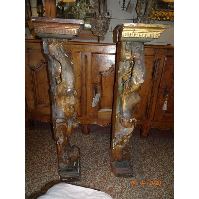 Gold 17th Century Italian Caryatids - a Pair For Sale - Image 8 of 11