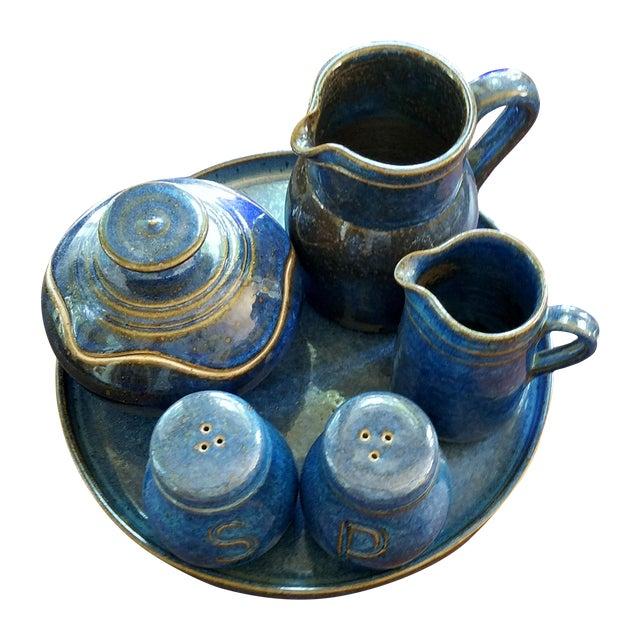 Saint Amand en Puisaye Les Bleus Condiment Set - Image 1 of 11