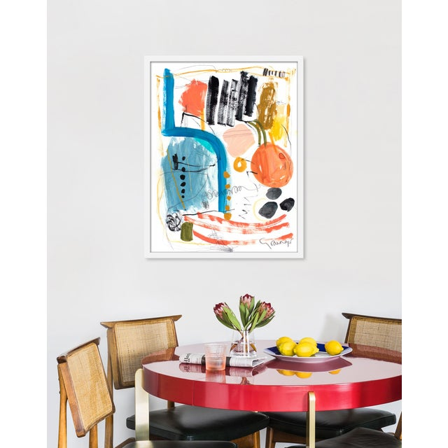 Giclée on textured fine art paper with white frame. Unframed print dimensions: 21.75x27.75. Seeking to create an abstract...